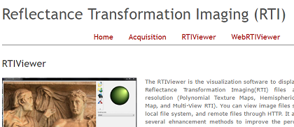 RTI: Reflectance Transformation Imaging
