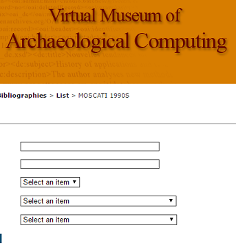 Bibliography of Archaeological Computing